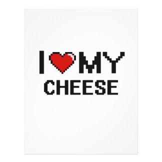 "I Love My Cheese Digital design 8.5"" X 11"" Flyer"