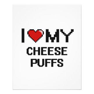 "I Love My Cheese Puffs Digital design 4.5"" X 5.6"" Flyer"