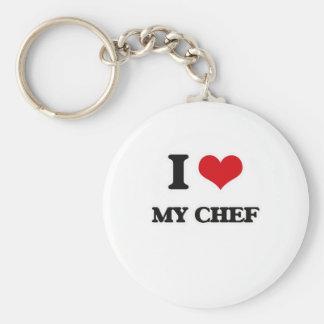 I Love My Chef Keychain