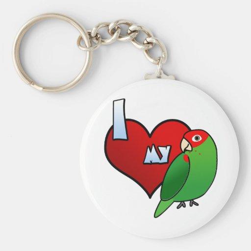 I Love my Cherry Headed Conure Keychain