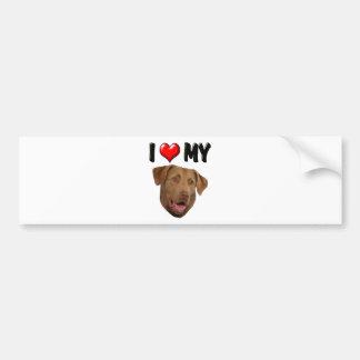 I Love My Chesapeake Bay Retriever Bumper Sticker