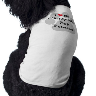 I Love My Chesapeake Bay Retriever Pet Tshirt