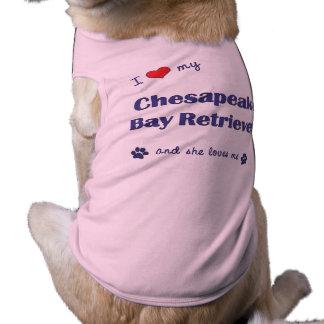 I Love My Chesapeake Bay Retriever Female Dog Doggie Tshirt