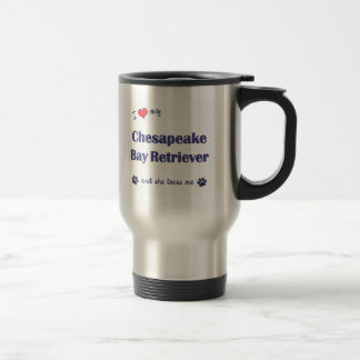 I Love My Chesapeake Bay Retriever (Female Dog) 15 Oz Stainless Steel Travel Mug