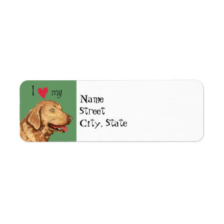 I Love my Chesapeake Bay Retriever Label