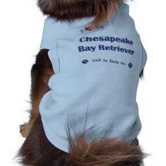 I Love My Chesapeake Bay Retriever Male Dog Doggie Shirt
