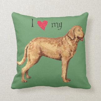 I Love my Chesapeake Bay Retriever Pillow
