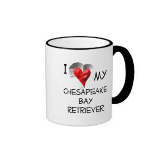 I Love My Chesapeake Bay Retriever Ringer Coffee Mug