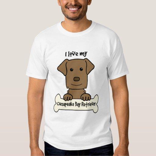 I Love My Chesapeake Bay Retriever T Shirt Zazzle