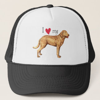 I Love my Chesapeake Bay Retriever Trucker Hat