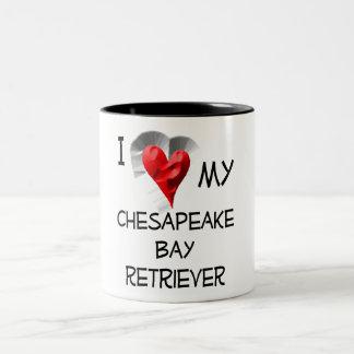 I Love My Chesapeake Bay Retriever Two-Tone Coffee Mug