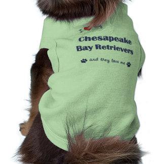 I Love My Chesapeake Bay Retrievers Multi Dogs Pet Shirt