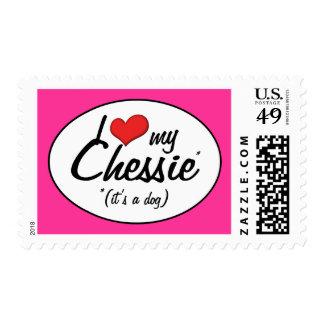 I Love My Chessie (It's a Dog) Stamp