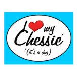I Love My Chessie (It's a Dog) Postcards