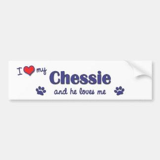I Love My Chessie (Male Dog) Bumper Sticker