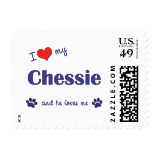 I Love My Chessie (Male Dog) Postage Stamp