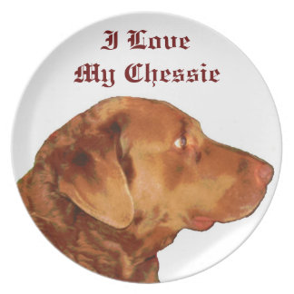 I Love My Chessie Plate