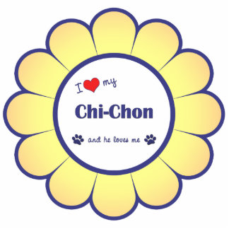 I Love My Chi-Chon (Male Dog) Statuette