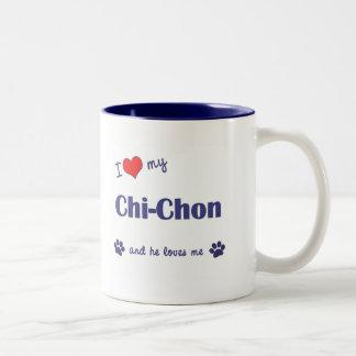 I Love My Chi-Chon (Male Dog) Two-Tone Coffee Mug