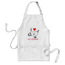 I Love my chickens Adult Apron