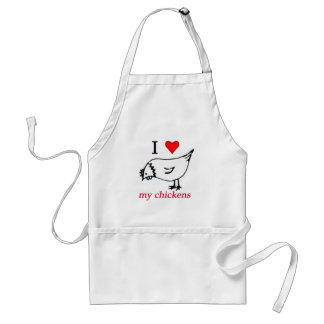 I Love my chickens Aprons