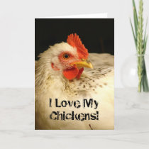 I Love My Chickens! Card