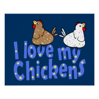 I Love my Chickens Poster