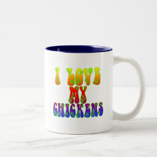 I Love My Chickens Two-Tone Coffee Mug