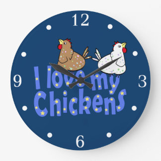 I Love my Chickens Wall Clock