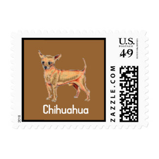 I Love My Chihuahu Puppy Postage Stamp for letters