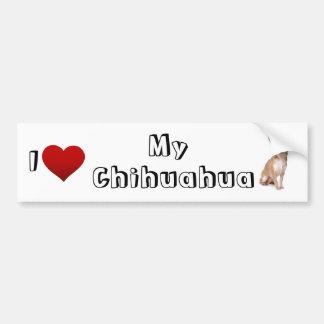 i love my chihuahua (2) car bumper sticker