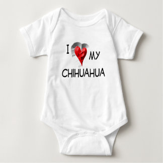 I Love My Chihuahua Baby Bodysuit