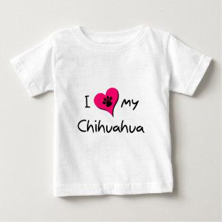 I Love my Chihuahua Baby T-Shirt