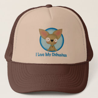 I Love My Chihuahua (blue) Trucker Hat