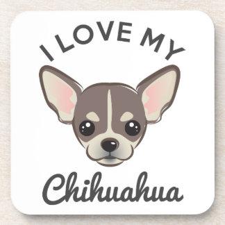 """I Love My Chihuahua"" Coaster Set"