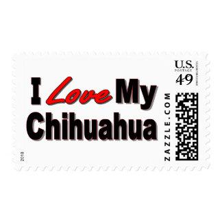 I Love My Chihuahua Dog Merchandise Postage