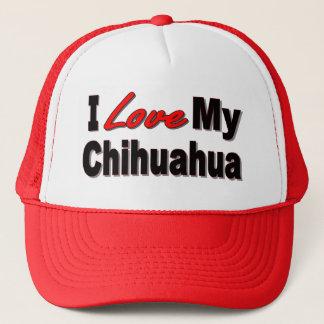 I Love My Chihuahua Dog Merchandise Trucker Hat