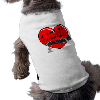 I Love My Chihuahua Heart with Dog Collar Pet T-shirt