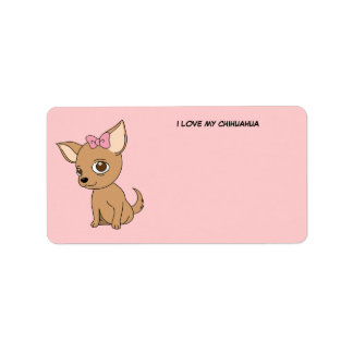 I Love My Chihuahua Label