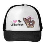 I Love My Chihuahua (long coat) Hat