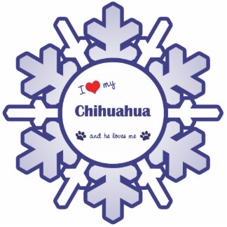 I Love My Chihuahua (Male Dog) Cutout