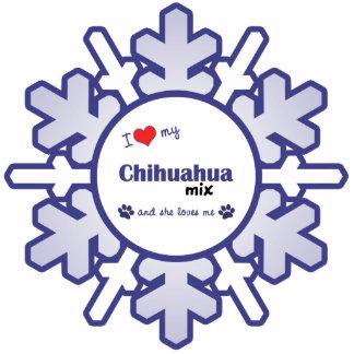 I Love My Chihuahua Mix (Female Dog) Acrylic Cut Outs