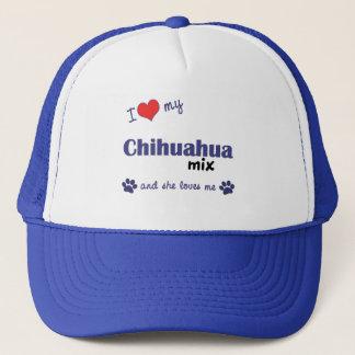 I Love My Chihuahua Mix (Female Dog) Trucker Hat