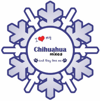 I Love My Chihuahua Mixes (Multiple Dogs) Cutout