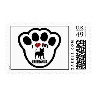 I love my chihuahua paw print stamp