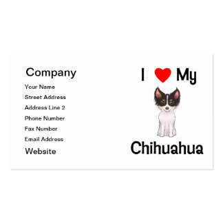 I Love My Chihuahua (picture) Double-Sided Standard Business Cards (Pack Of 100)