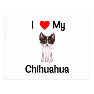 I Love My Chihuahua (picture) Postcard