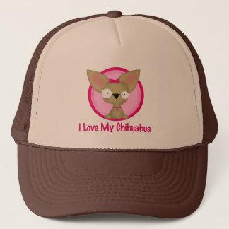I Love My Chihuahua (pink) Trucker Hat