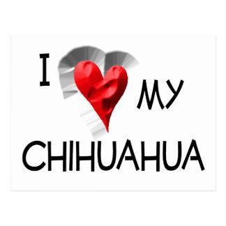 I Love My Chihuahua Postcard