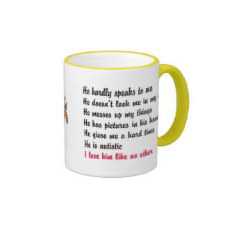 I love my child with autism - design series ringer mug